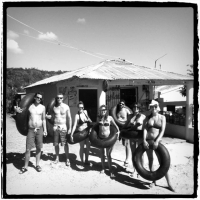 The Extreme crew getting ready to do the Tubin' Tuesday tour at the organic farm