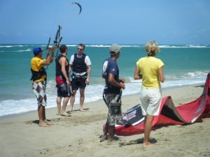 Learning to kiteboard