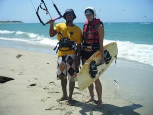 Go Kite Cabarete instructor and student