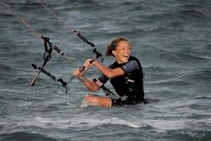 QT Katie kiteboarding