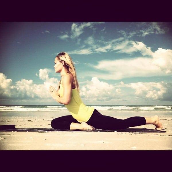 half pigeon yoga pose