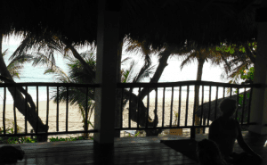 From the Yoga Loft you can see Kite Beach as you practice in the open air.