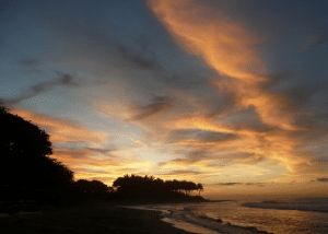 Sunset view looking west from Kite Beach, Cabarete