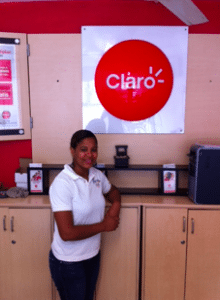 Maria (not her real name...or maybe it is) the Claro Lady at Janets Supermarket.