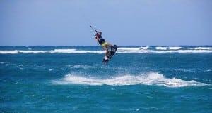 kiteboarding on kite beach