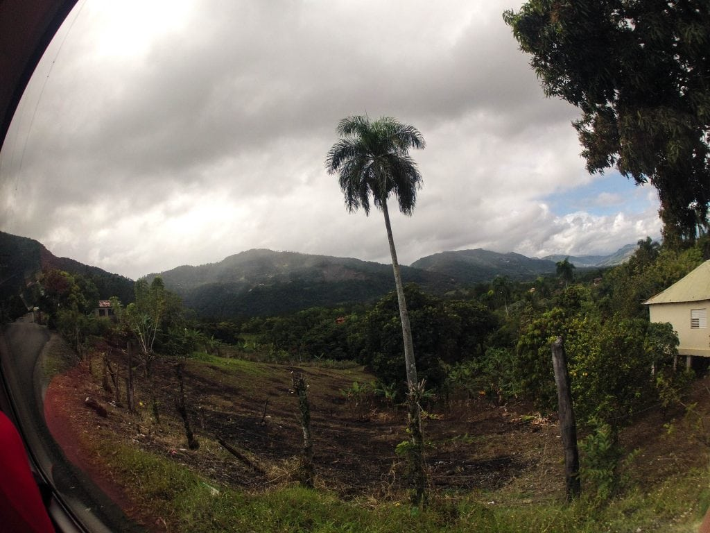 A view from the beautiful drive through the mountains. A day trip to Jarabacoa is just a few hours away from Cabarete.