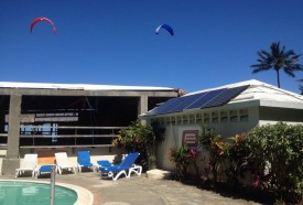 Solar panels at eXtreme hotel. Every eco hotel should have a sustainable source of energy.