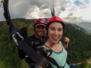 Up with the birds over the beautiful mountain valley of Jarabacoa! Thanks to my Hawk Paragliding pilot for a safe and beautiful flight.