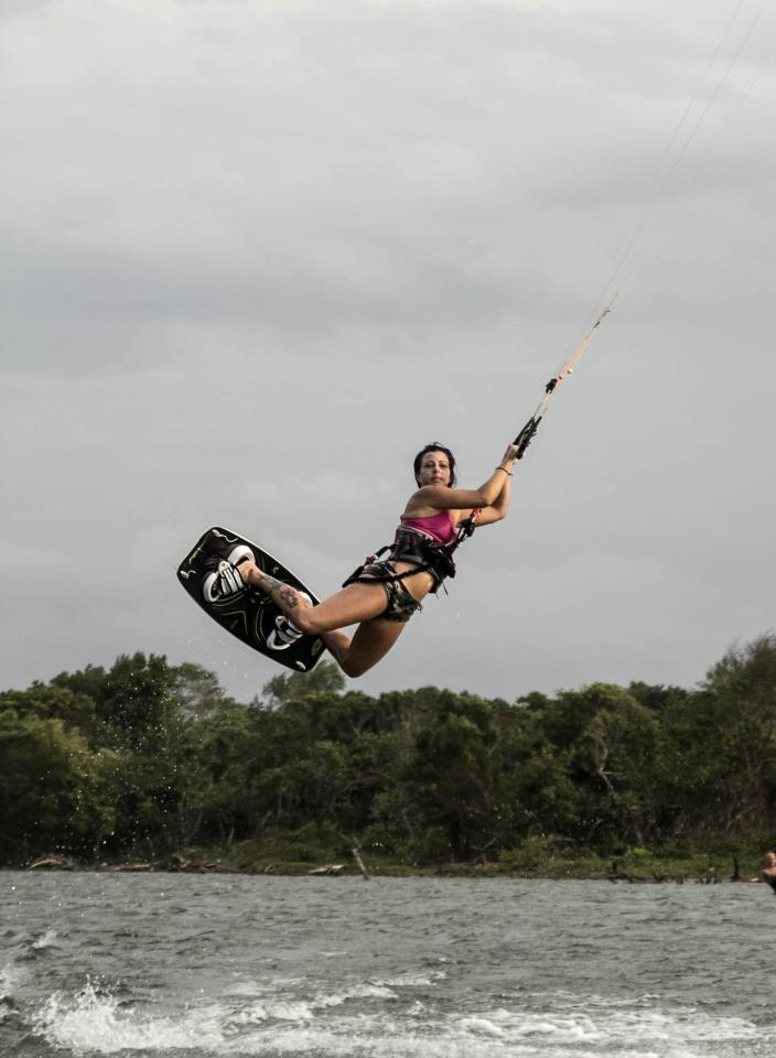 kiteboarding in La Boca