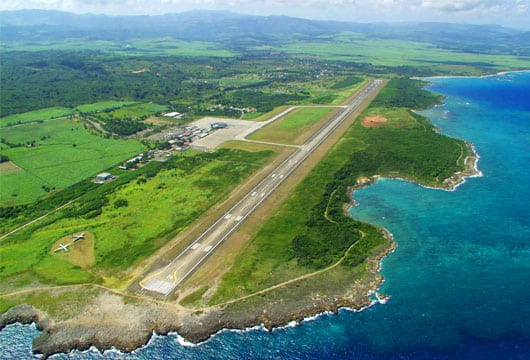Flying in to puerto plata pop for Poto planta