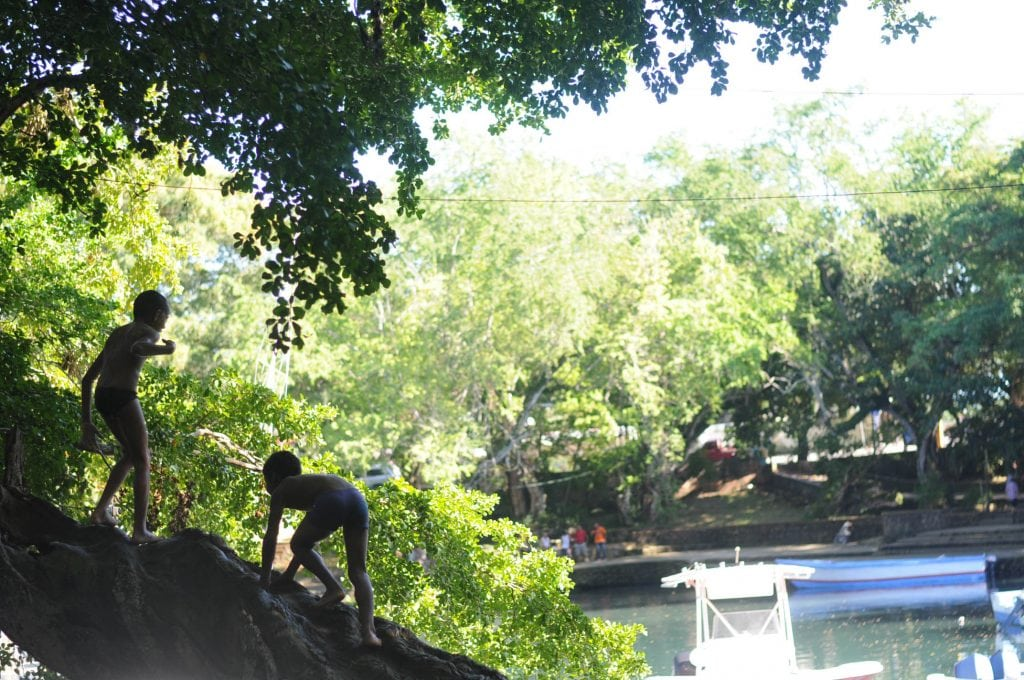 Children in the Mangroves at Laguna Grigi