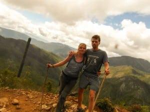Happy hikers on pico duarte