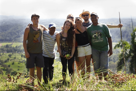 Friends I met at Taino Farm from the UK, Czech Republic and Dominican Republic.