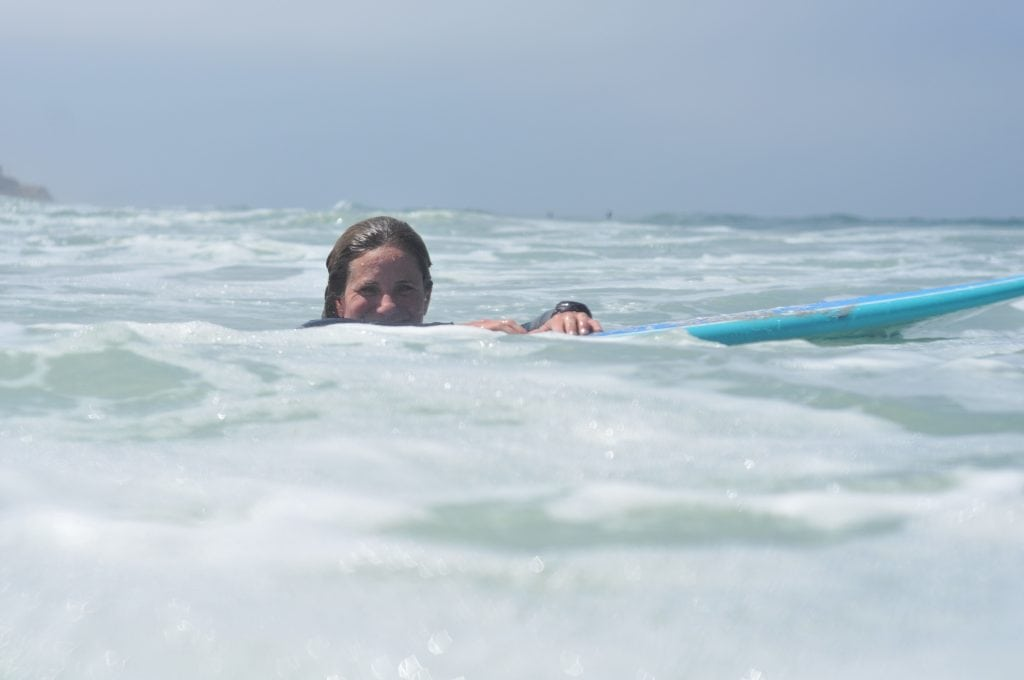 woman girl surfing