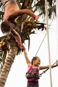 cabarete with kids flying trapeze with eXtreme Circus at eXtreme Hotel